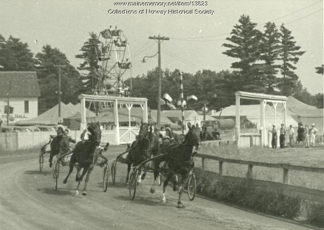 Harness Racing, Oxford County Fair, ca. 1946