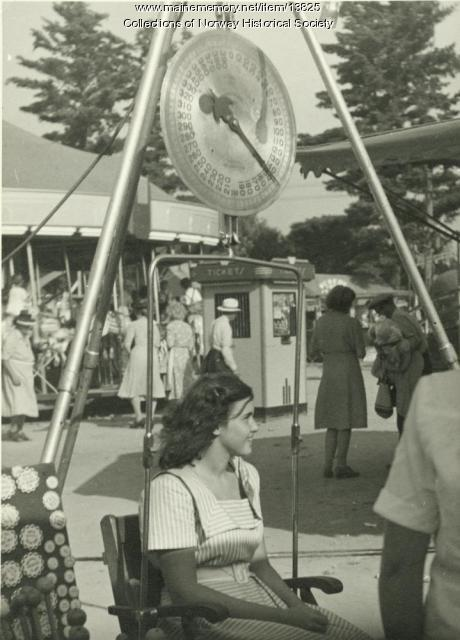 Guess-Your-Weight, Oxford County Fair, ca. 1947
