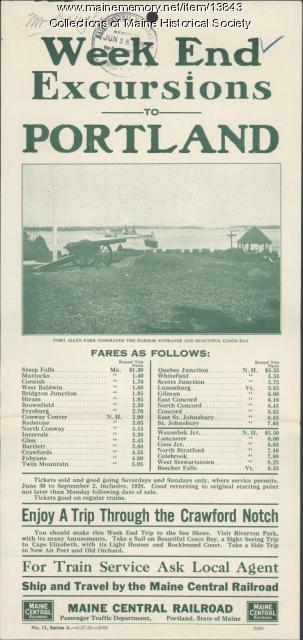 Railroad excursion flyer, 1928