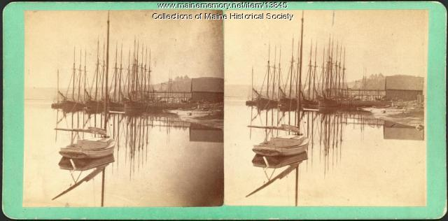 Stereoview of Hallowell