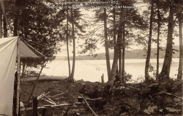 Camp Site in Aroostook Woods, c. 1895