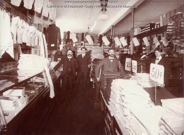 Fox Brothers store, Houlton, 1901