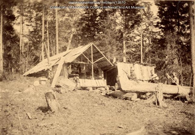 Charles West and Dugout Canoe, Houlton, ca. 1895