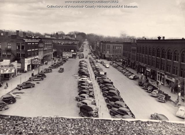 Market Square, Houlton, 1950