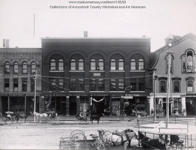 Frisbie Block, Houlton, ca. 1890