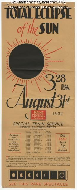 Total Eclipse of the Sun train excursion, 1932