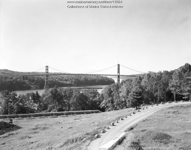Waldo-Hancock Bridge, ca. 1948