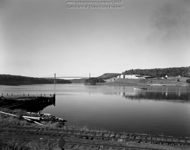 Waldo-Hancock Bridge, ca. 1949