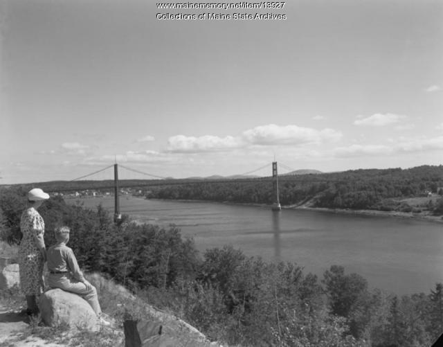 Waldo-Hancock Bridge, 1936