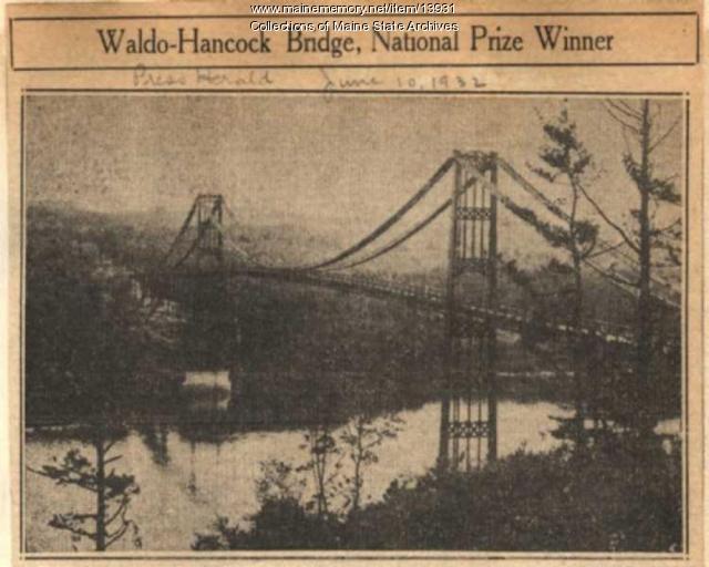 Waldo-Hancock Bridge Dedication June 9, 1932