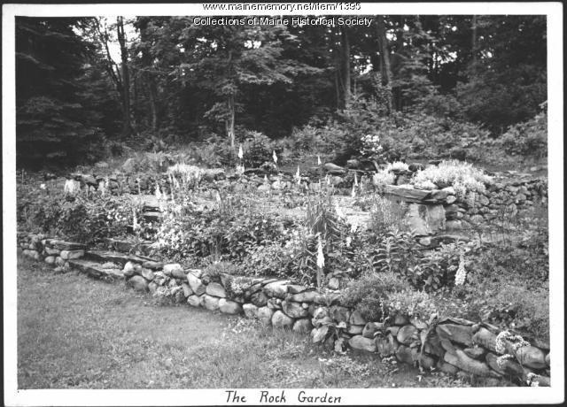 Rock garden, Driftwood Lodge, Rangeley Lake