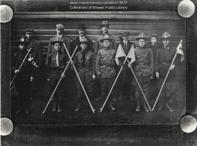 Original Boy Scout troop, Brewer, 1909