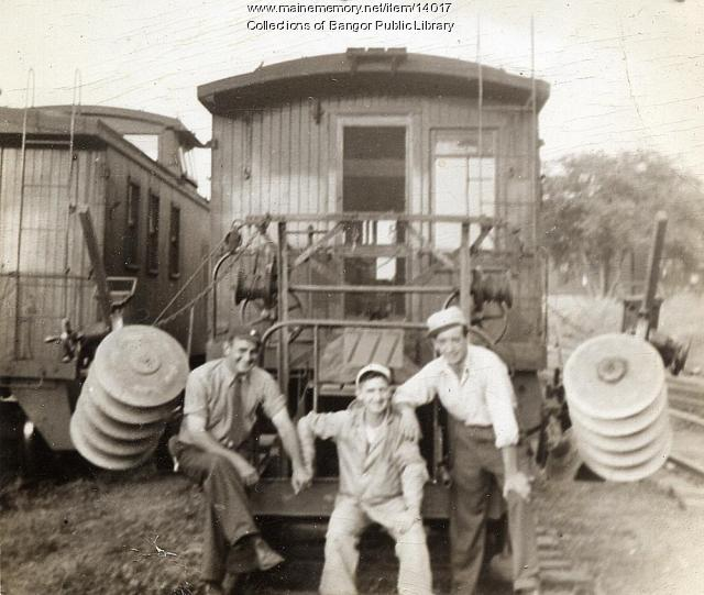 Railroad employees, Union Station, Bangor
