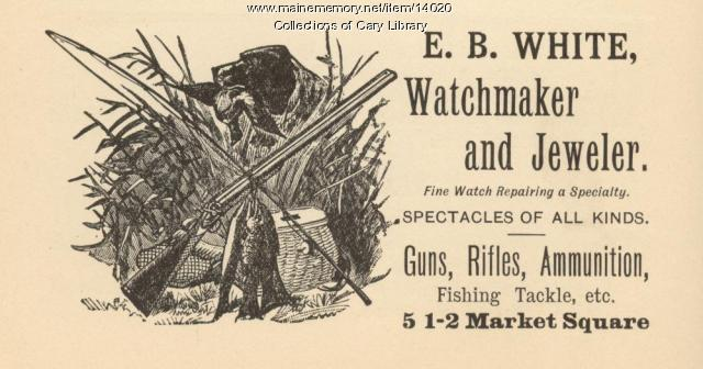 Watchmaker and Jeweler advertisement, Houlton, 1895