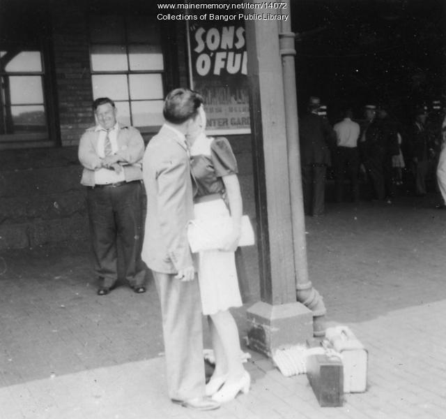 Phil Boudreau, Louise Surrette, Bangor, 1942