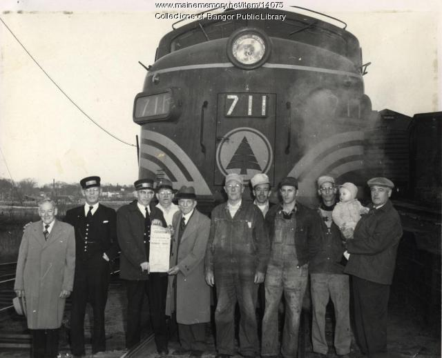 Maine Central Railroad Engine 711, Bangor, ca. 1947
