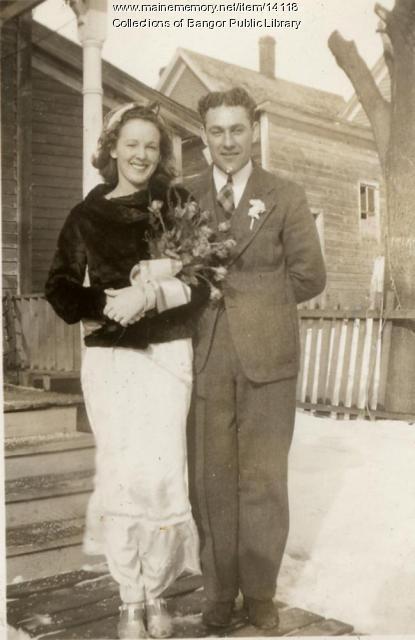Louise and Peteau Surette, Bangor, 1939