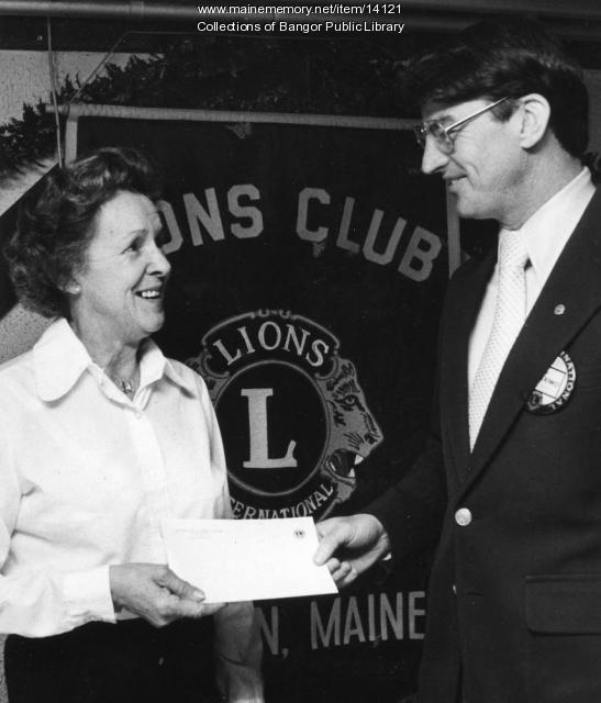 Louise Surrette Boudreau Receives Lions Club Award