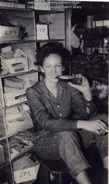 Louise Surette at Viner Shoe, Bangor