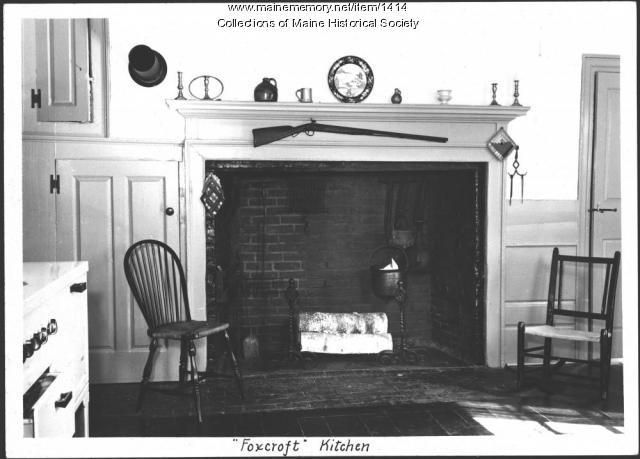 Foxcroft kitchen, New Gloucester, 1939