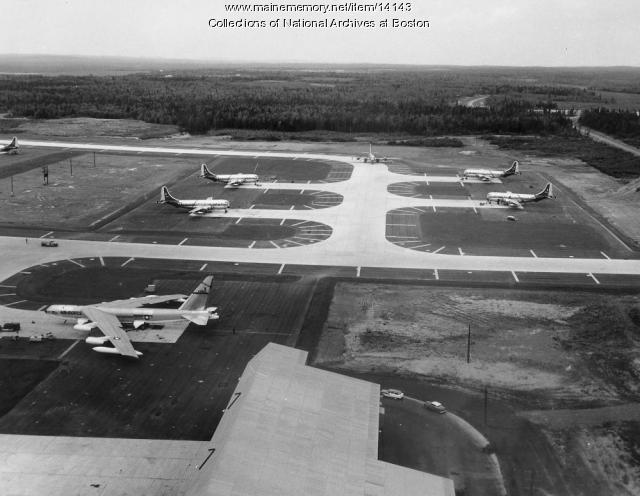 Aircraft at Loring AFB, 1956