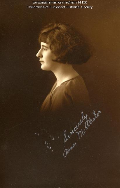 Ann McAlister, Bucksport, 1924