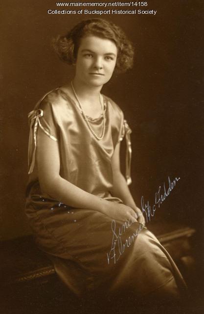 Florence McFadden, Bucksport, 1924