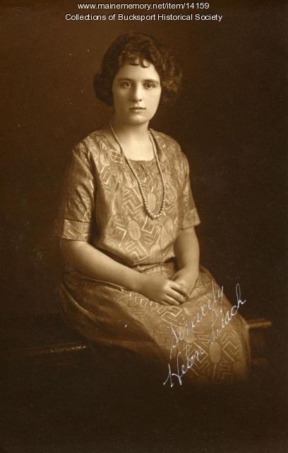 Helen Leach, Bucksport, ca. 1924