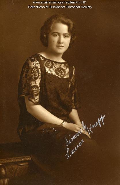 Louise Knapp, Bucksport, ca. 1924