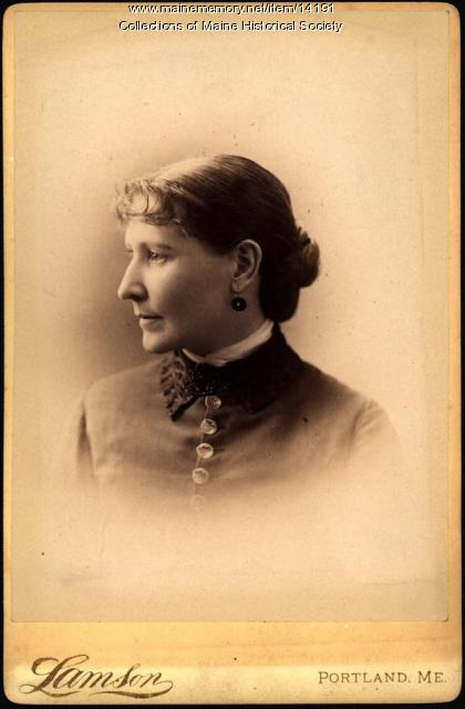 Alice Warren, Portland, ca. 1885