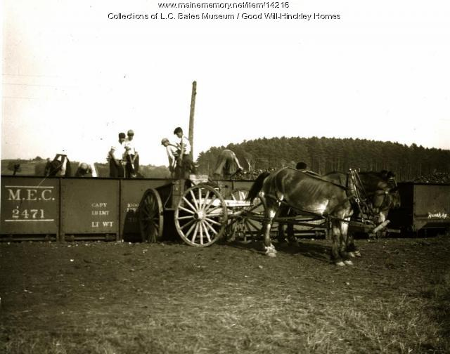Orphan boys shoveling coal, Fairfield, ca. 1900