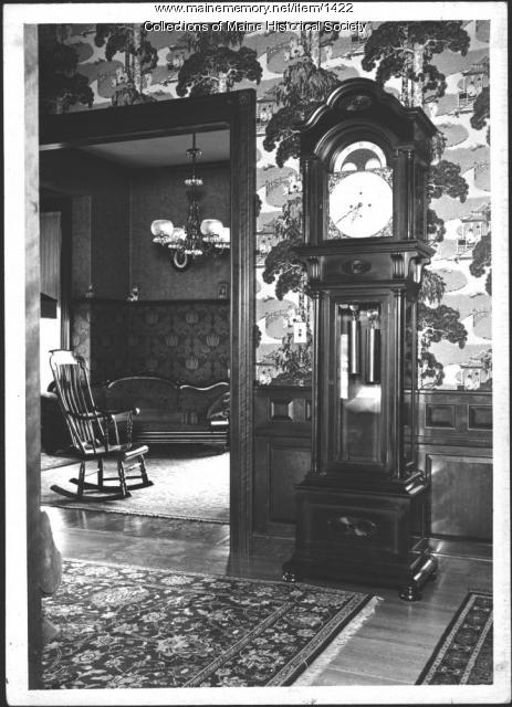Grandfather clock, Pooler Mansion, Skowhegan, 1940