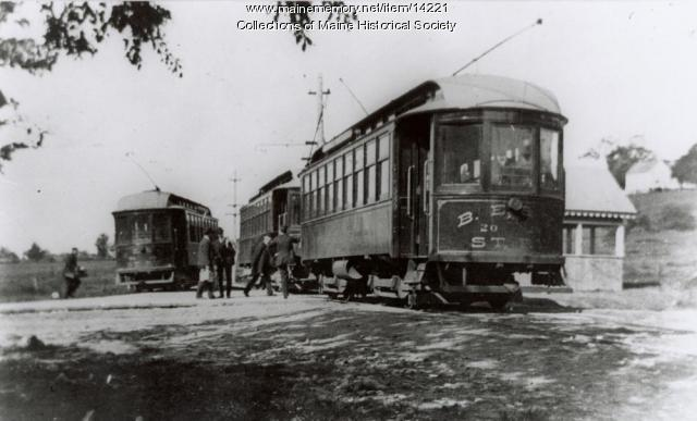 Street rail cars at Eliot, 1903