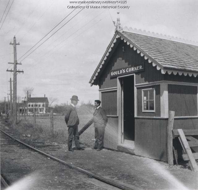 Street railway waiting station, Eliot, 1906