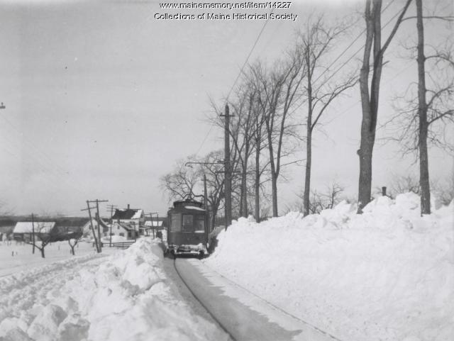 Street rail car, Neal's Hill, Eliot, 1916