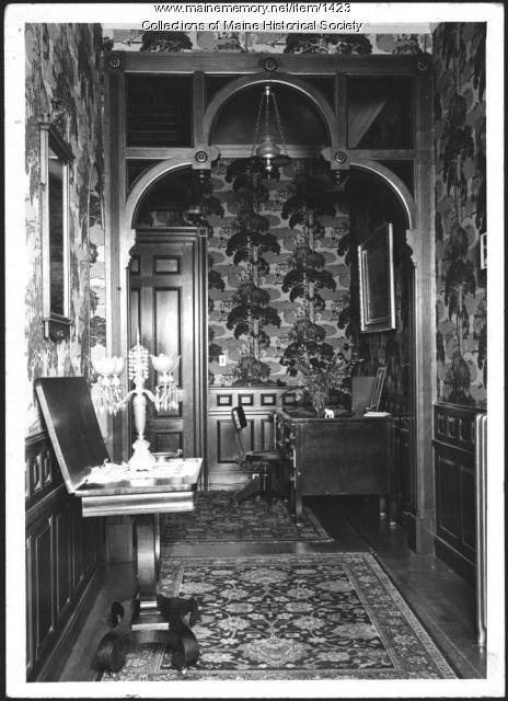 Hallway, Pooler Mansion, Skowhegan, 1937