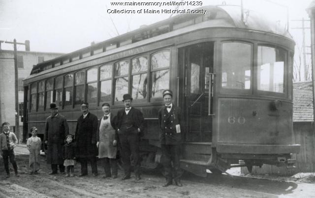 Atlantic Shore Line Railway car, South Berwick, c. 1910