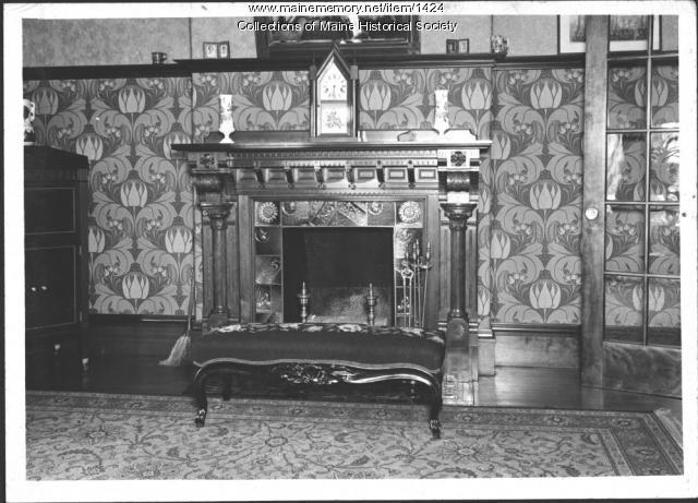 Fireplace, Pooler Mansion, Skowhegan, 1940