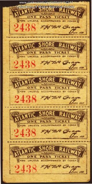 Employee trolley tickets