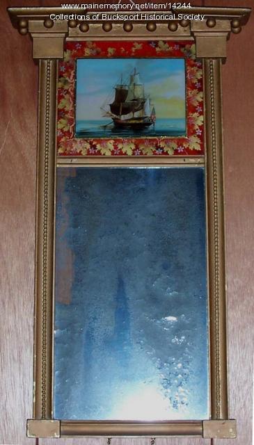 Heywood House mirror, Bucksport, 1820