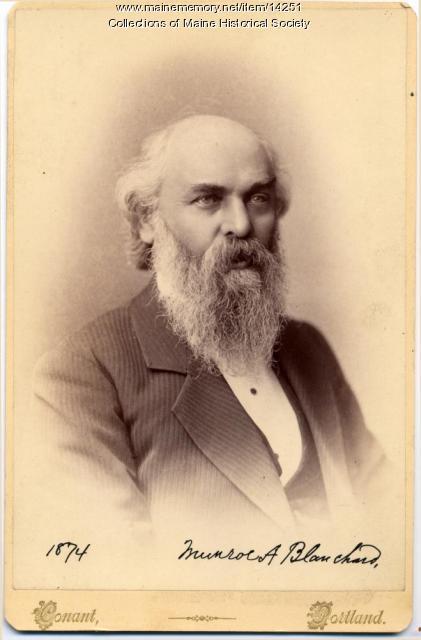 Munroe A. Blanchard, Portland, 1874