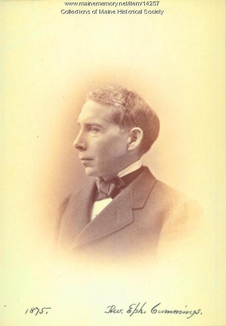 Ephraim C. Cummings, Portland, ca. 1875