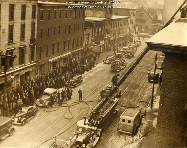 Exchange Street fire, Bangor, 1932