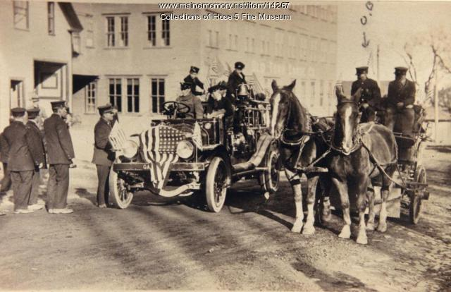 Old Town's first motorized truck, Old Town, ca. 1919