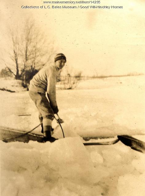 Ice cutting, Fairfield, ca. 1920
