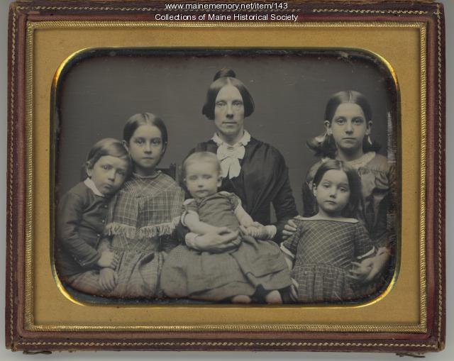 Lucretia Day Sewall and children, Portland, ca. 1849