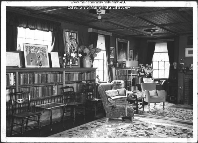 Interior, John Mead Howells' home, Kittery Point, 1940