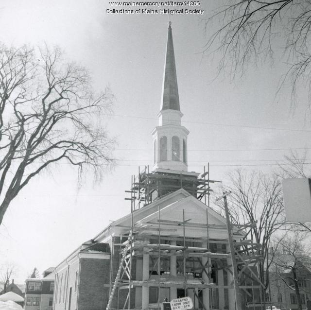 New Woodfords Congregational Church, 1956