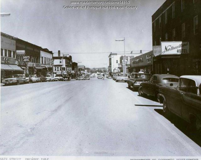 Main Street, Presque Isle, ca. 1964