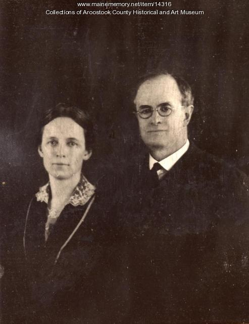 Rev. and Mrs David L. Yale, Houlton, ca. 1920